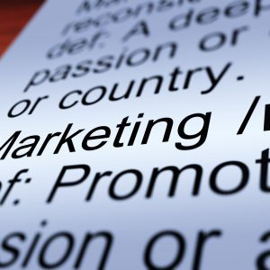 Marketing Definition Closeup Shows Promotion Sales And Advertising